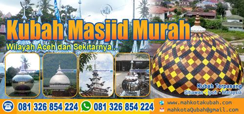 jual kubah masjid enamel stainless