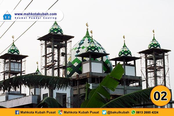 kubah masjid enamel teflon 1