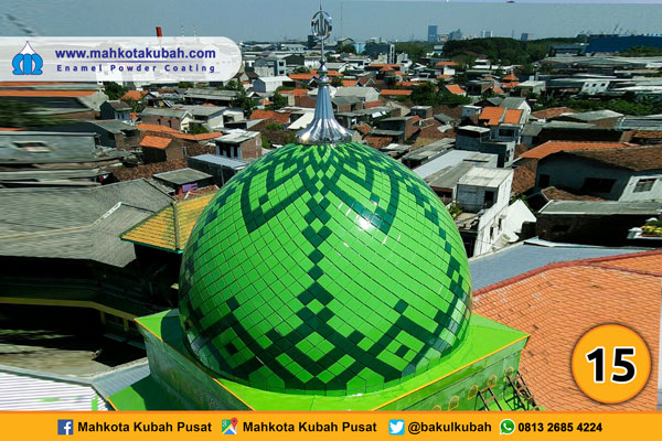 kubah masjid enamel teflon 14