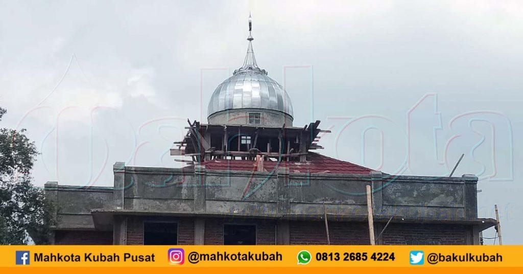Pemasangan Kubah Stainless Ciwidey, Bandung