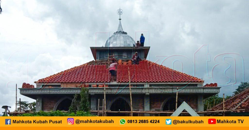 Pemasangan Kubah Stainless Samigaluh, Kulon Progo