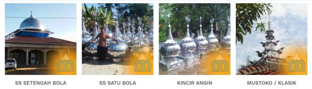kubah masjid stainless