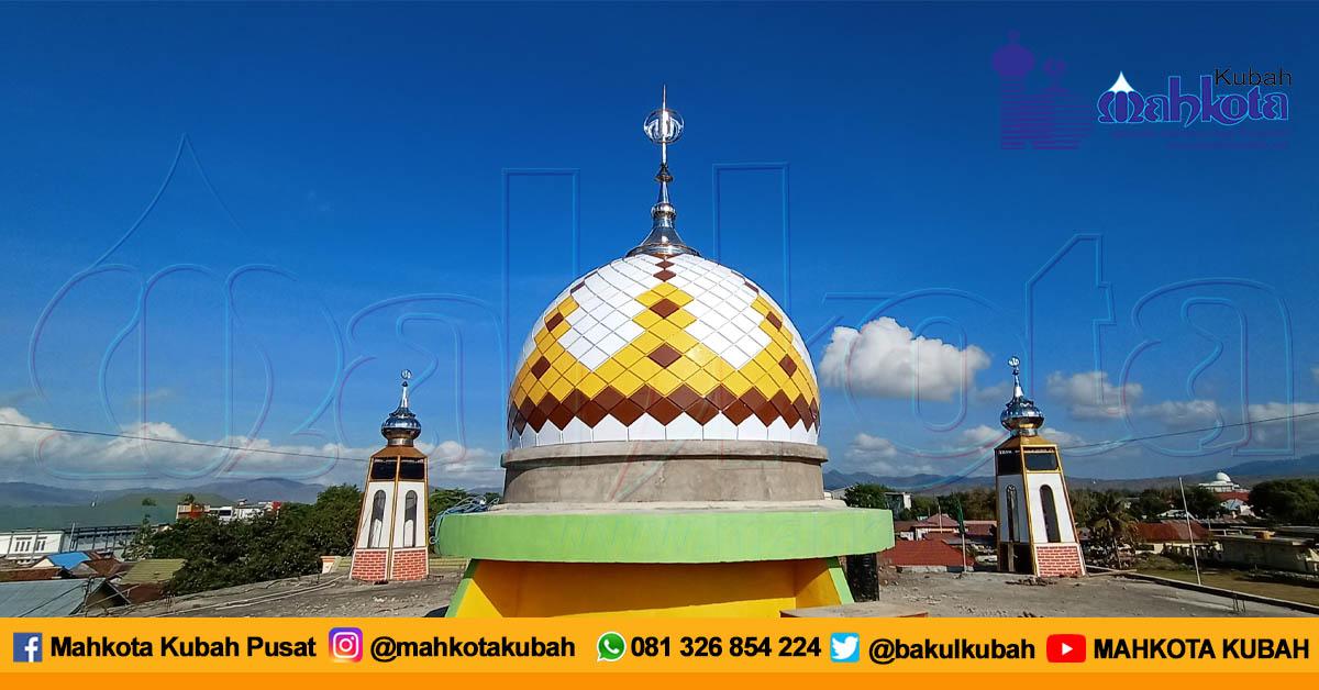 Pemasangan Kubah Masjid Enamel Dompu