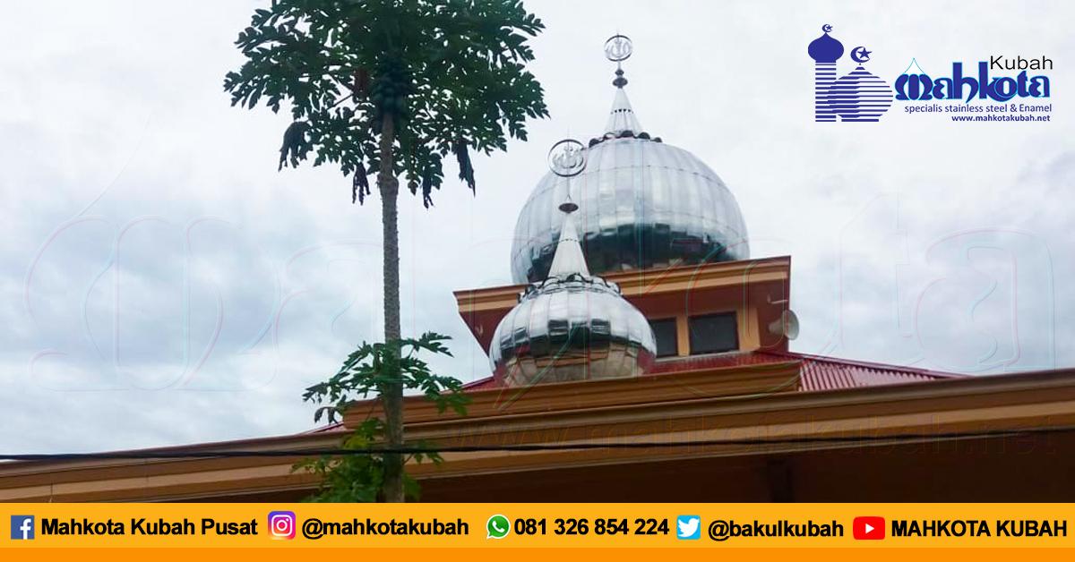 Pemasangan Kubah Masjid Stainless Merangin