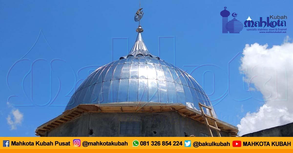 Pemasangan Kubah Masjid Stainless Bima